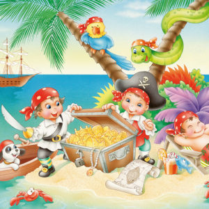 CAR4056223 002 300x300 - Puzzle 3x48 pcs - Bande de pirates