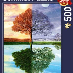 CAR4058223 001 300x300 - Puzzle 500 pcs - Arbre des quatre saisons