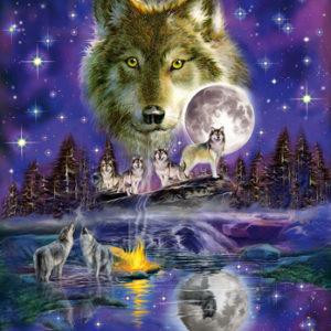 CAR4058233 001 300x300 - Puzzle 1000 pcs - Loup au clair de lune